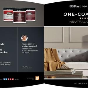 BEHR Marquee One-Coat Hide - Neutrals Brochure