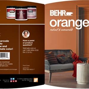 BEHR Oranges Radiant & Memorable Brochure