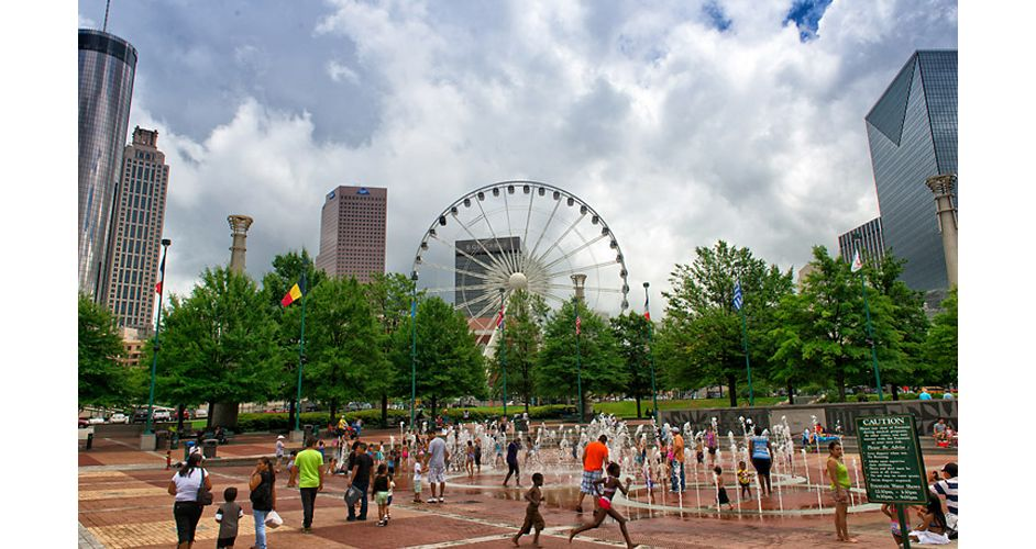 Centennial Olympic Park in Downtown Atlanta