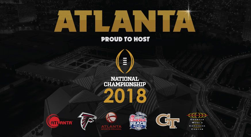 Atlanta Selected To Host 2018 College Football Playoff National