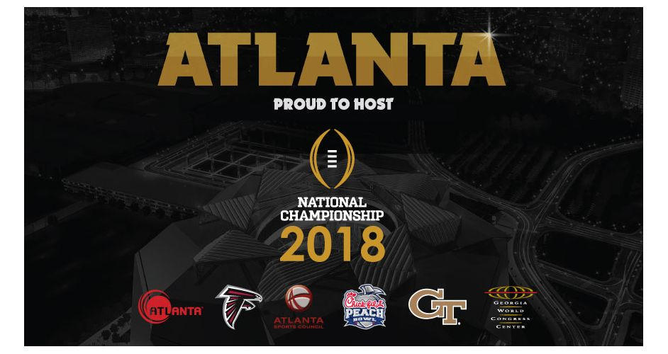 Atlanta to host College Football Playoff National Championship in 2018