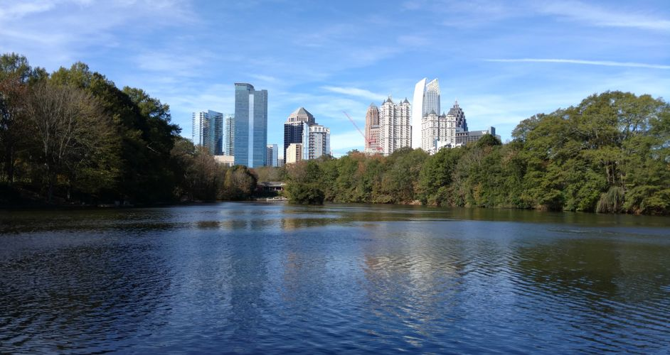 Midtown Skyline from Piedmont Park
