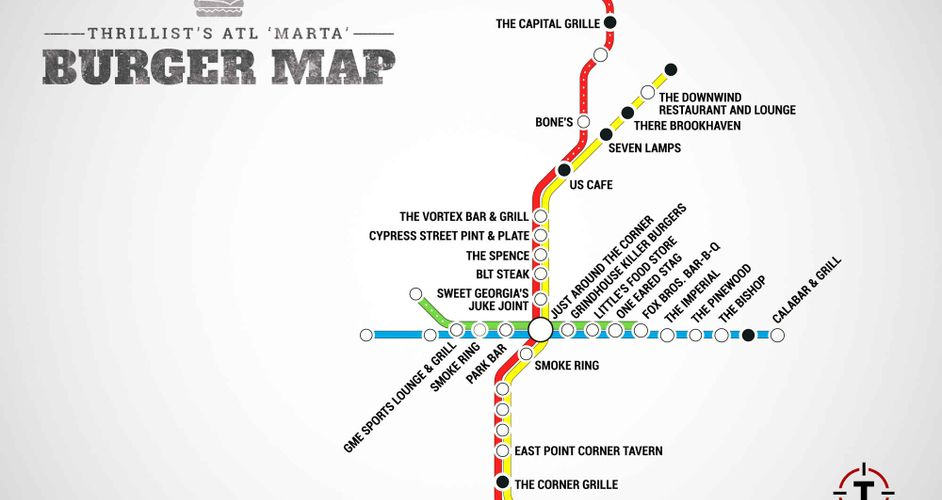 MARTA Burger Map. Photo: Thrillist