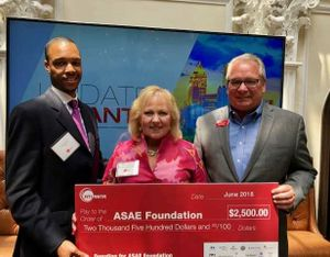 ACVB and its partners donate to ASAE Foundation