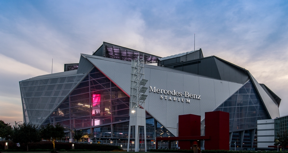 Mercedes-Benz Stadium Sunset