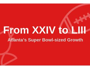 From XXIV to LIII – Atlanta's Super Bowl-sized Growth