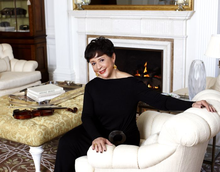 Sheila Johnson Living Room  and  Violin