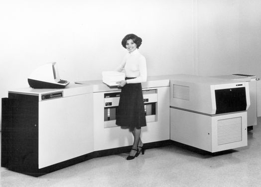 1977-9700: First xerographic laser printer