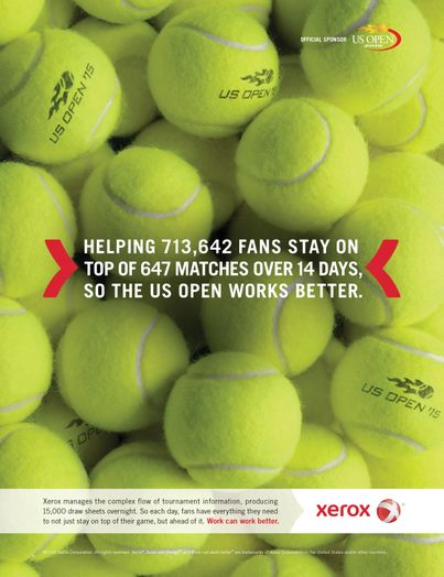 Xerox US Open 2015 Print Ad