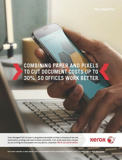 Xerox Work Can Work Better Print Ad for Print Services