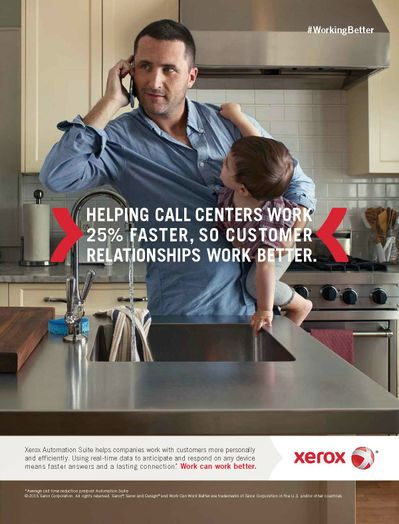 Xerox Work Can Work Better Print Ad for Customer Services