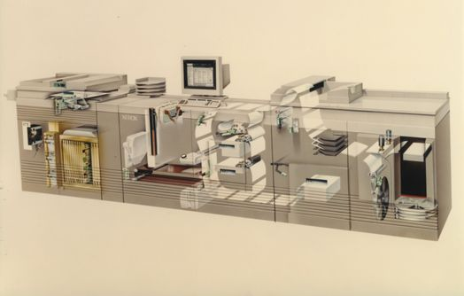 Inside view of the DocuTech 135 Production Publisher