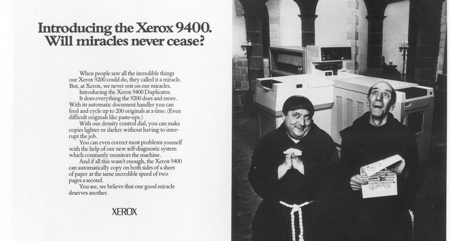 Xerox Brother Dominic Print Ad for the 9400 (1977)