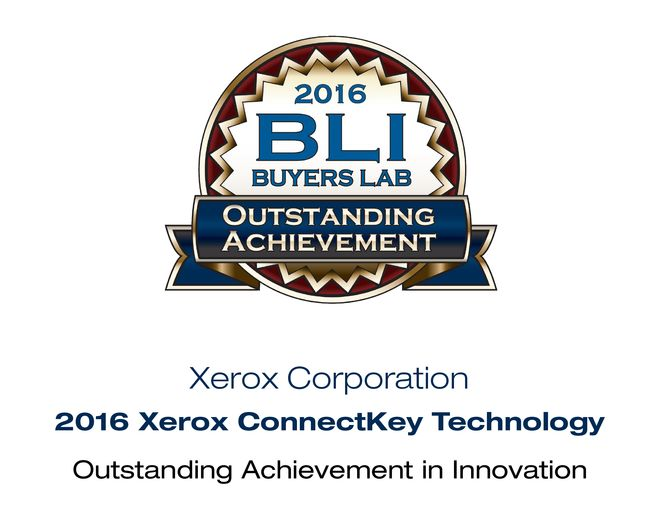 BLI award for Xerox ConnectKey Technology