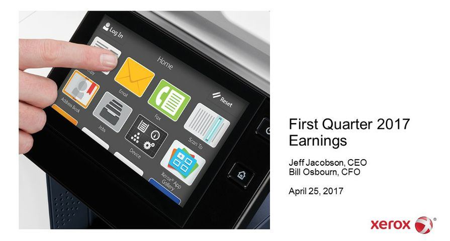 Xerox Reports First-Quarter 2017 Earnings