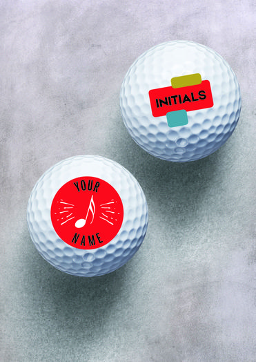 Jazz Fest Golf Balls Personalized with Xerox Direct to Object Printer