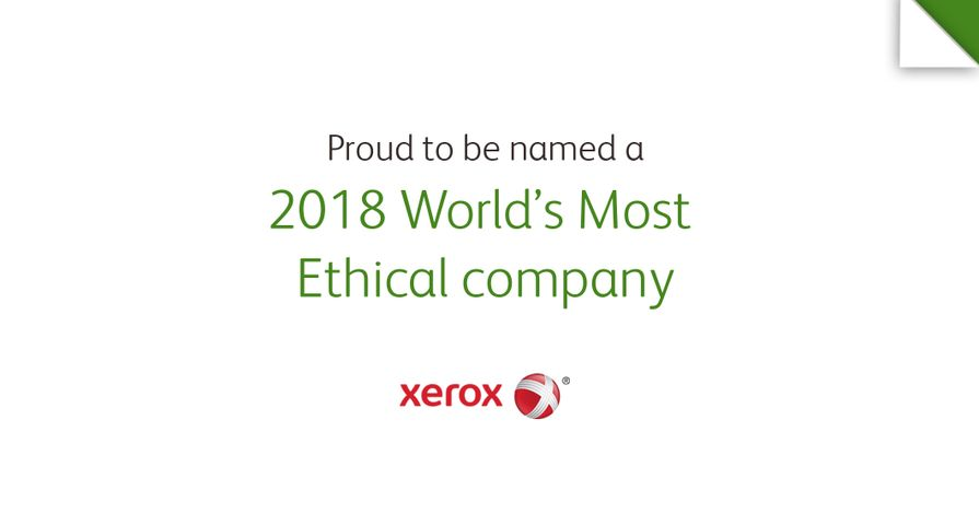 Xerox Named as one of World's Most Ethical Companies for 12th Consecutive Year