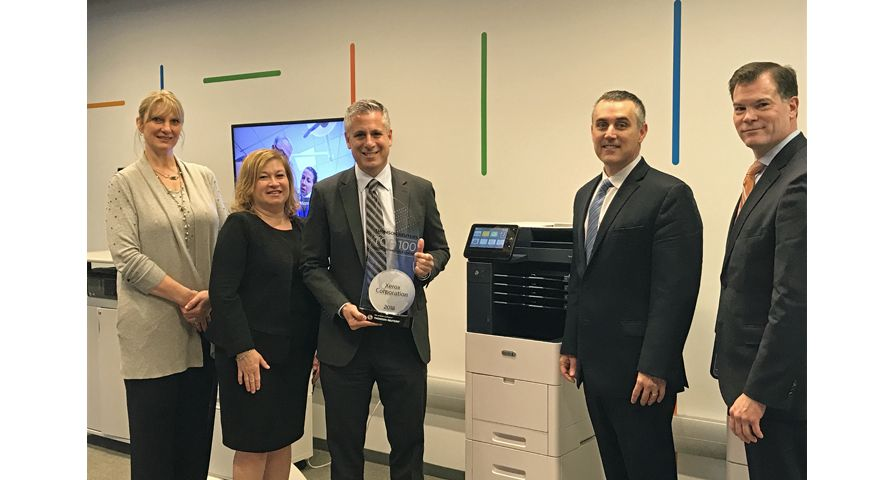 Xerox Team Receiving Thomson Reuters 2018 Award