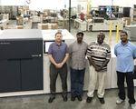 The Arista team with new Xerox Rialto 900 Inkjet Press