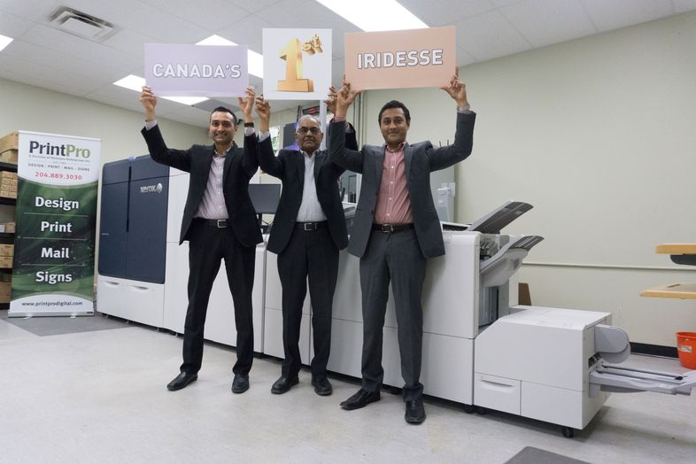 PrintPro Digital & Offset Printing Team with New Xerox Iridesses Production Press