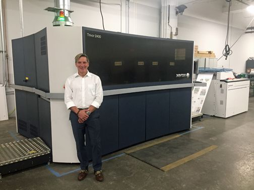 Mercury Print CEO with the Xerox Trivor 2400 High Fusion Inkjet Press