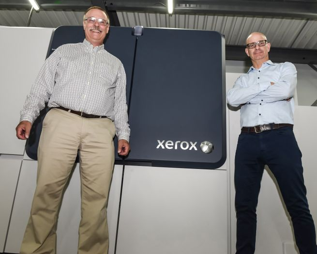 Mountain View Printing & Graphics Owners and New Xerox Production Press