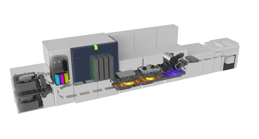 Inside view: Xerox Color Accelerator for Xerox Baltoro™ HF