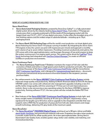 Fact Sheet: Print 09