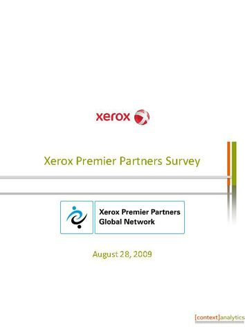 Survey Results of North American Graphic Arts Premier Partners