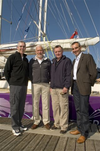 Frank Mooney, Director of Customer Service, Xerox; Sir Robin Knox-Johnston, Chairman of Clipper Ventures, Mark Duffelen, Director and General Manager UK channels Group, Xerox; William Ward, CEO of Clipper Ventures