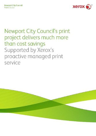 Case Study: See how Xerox managed print service supports Newport City Council's new ways of working