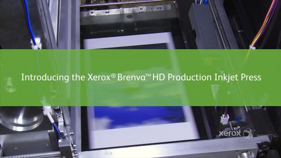 Watch video on the Xerox Brenva HD Production Inkjet Press