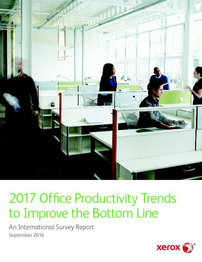 2017 Office Productivity Trends to Improve the Bottom Line Survey Report