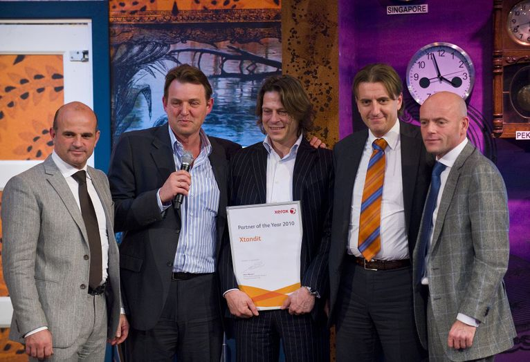 Uitreiking Xerox Partner of the Year award Xtandit