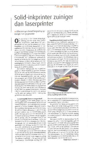 Xerox Solid-Inkprinter zuiniger dan laserprinter