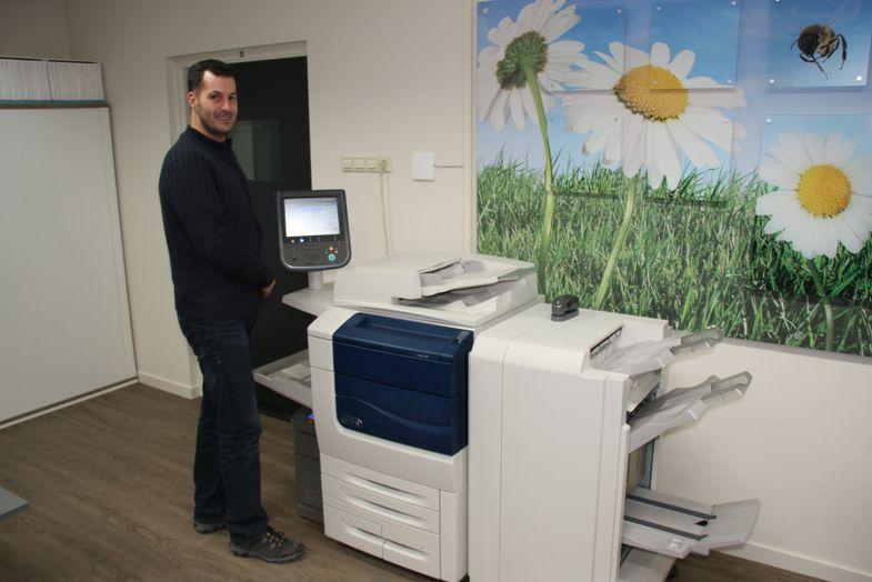 1. Ralph Elshof van Rowa Druk & Media bij de nieuwe Xerox 560