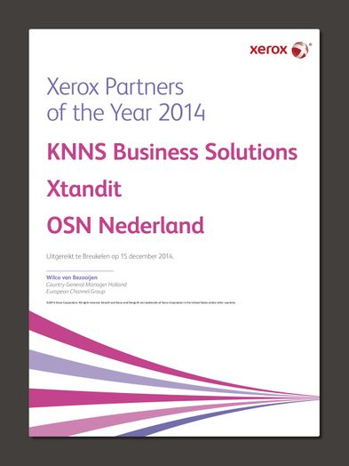 Xerox Partner Awards 2014
