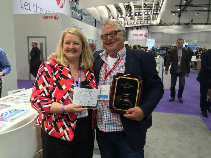 Best-of-the-Best Award_Jeroen van Druenen_Jubels en Susan Weiss, Xerox