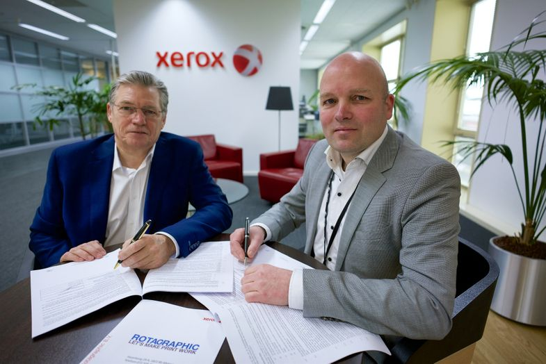 Ondertekening samenwerking Rotagraphic_Xerox