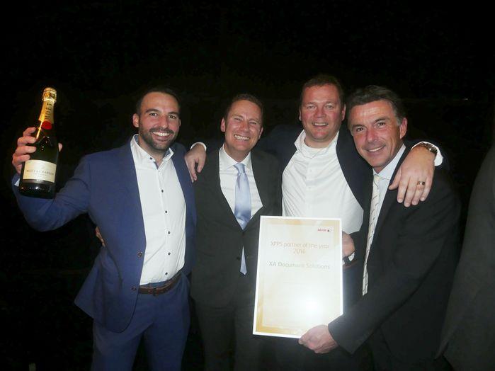 Marco Temperilli, Wilco van Bezooijen (Xerox), Maarten van der Klis en Martijn Jansen – alle drie XA