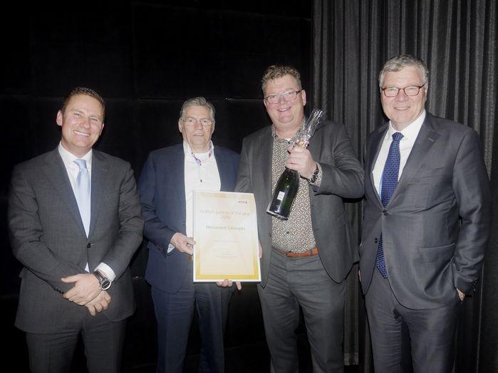 Wilco van Bezooijen (Xerox), Henk Bleeker (Xerox), Gilles van Lieshout (Document Concepts), Herman Levert (Xerox)