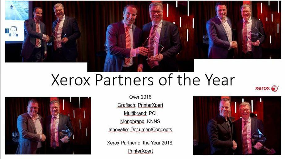 Xerox NL partners of the year 2018