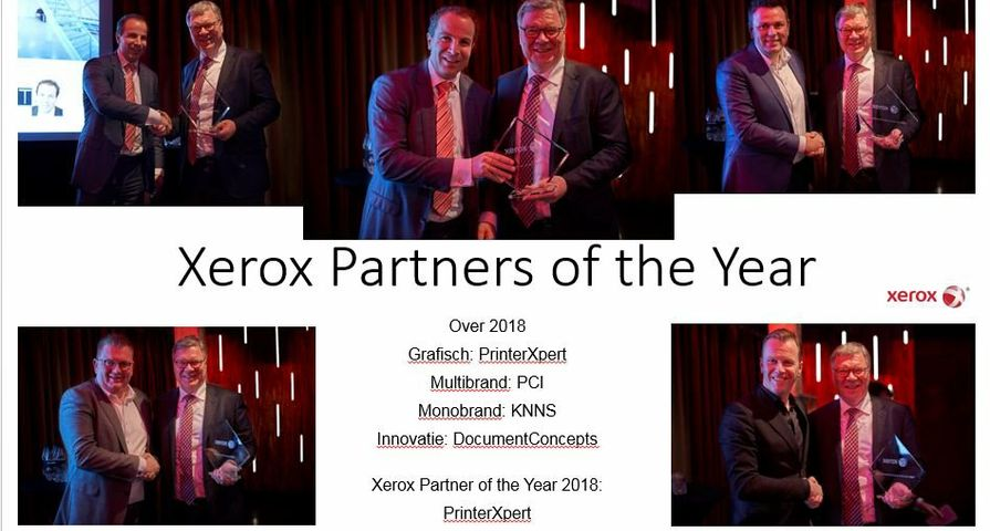 Xerox NL partners of the year 2018