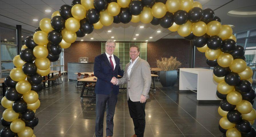 Herman Levert en Wilco van Bezooijen opening De Meern