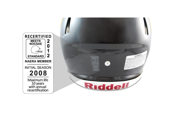 Riddell Unveils New, External Helmet Dating System