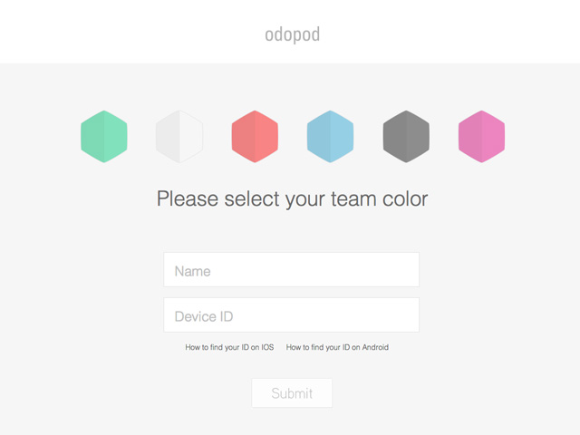 Please select your team color
