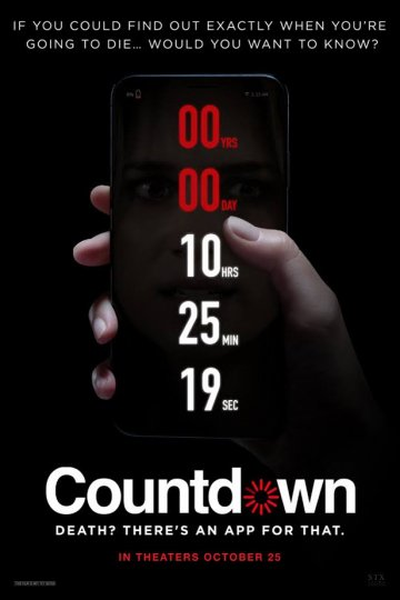 """Countdown"" movie poster"