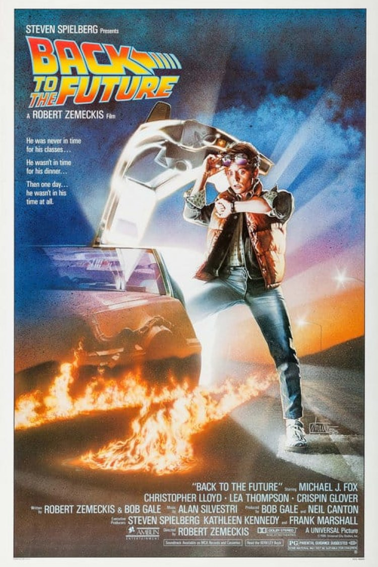 """Back To The Future"" movie poster"