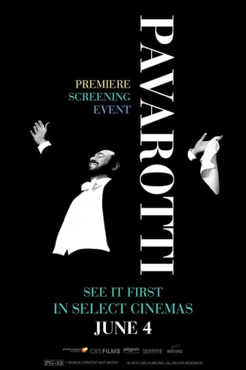 """Pavarotti: Premiere Screening Event"" movie poster"