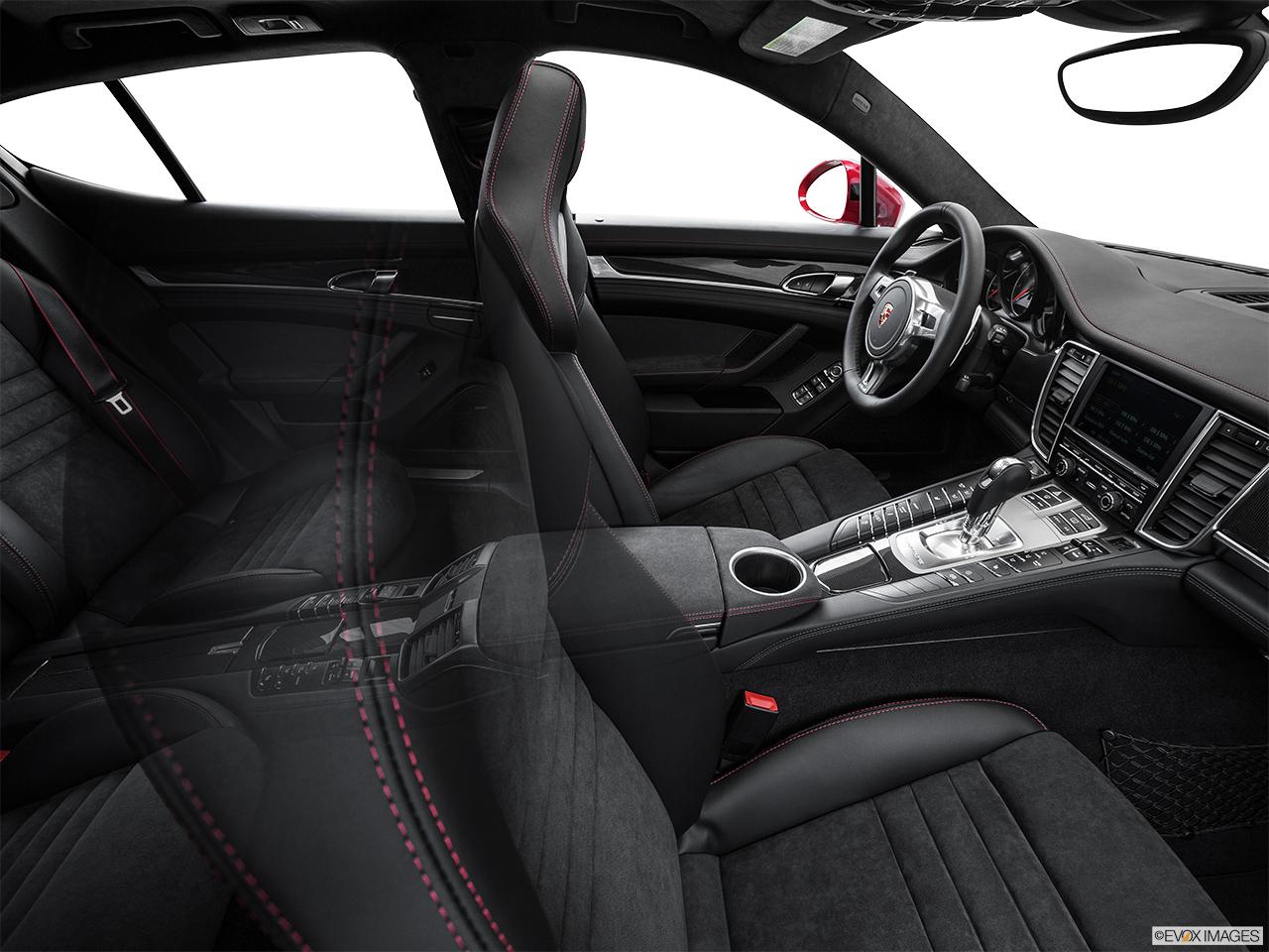 2015 porsche panamera turbo hatchback fake buck shot interior from passenger b pillar